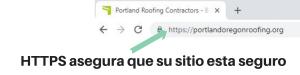 HTTPS asegura que su sitio es confiable Forza digital Marketing posicionamiento web seo