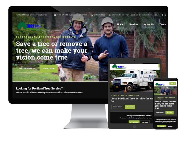 RH tree service portland web design responsive seo