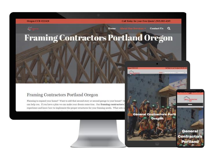 general contractors portland web design responsive